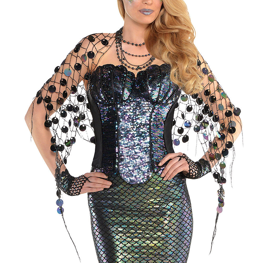 Adult Sea Siren Mermaid Net Wrap Image #1