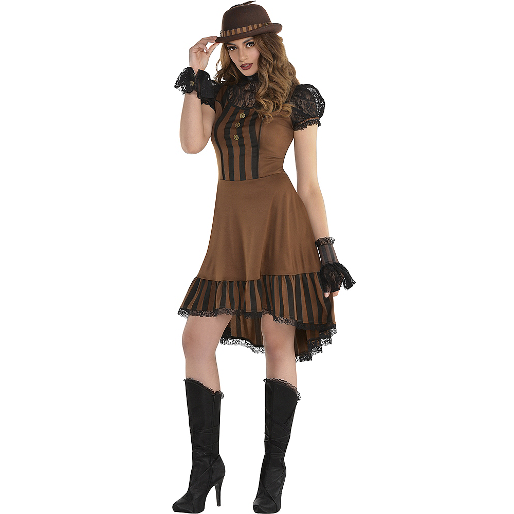 Adult Steampunk Dress Image #1