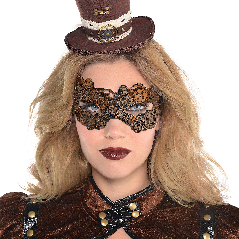 Nav Item for Adult Steampunk Mask Image #2