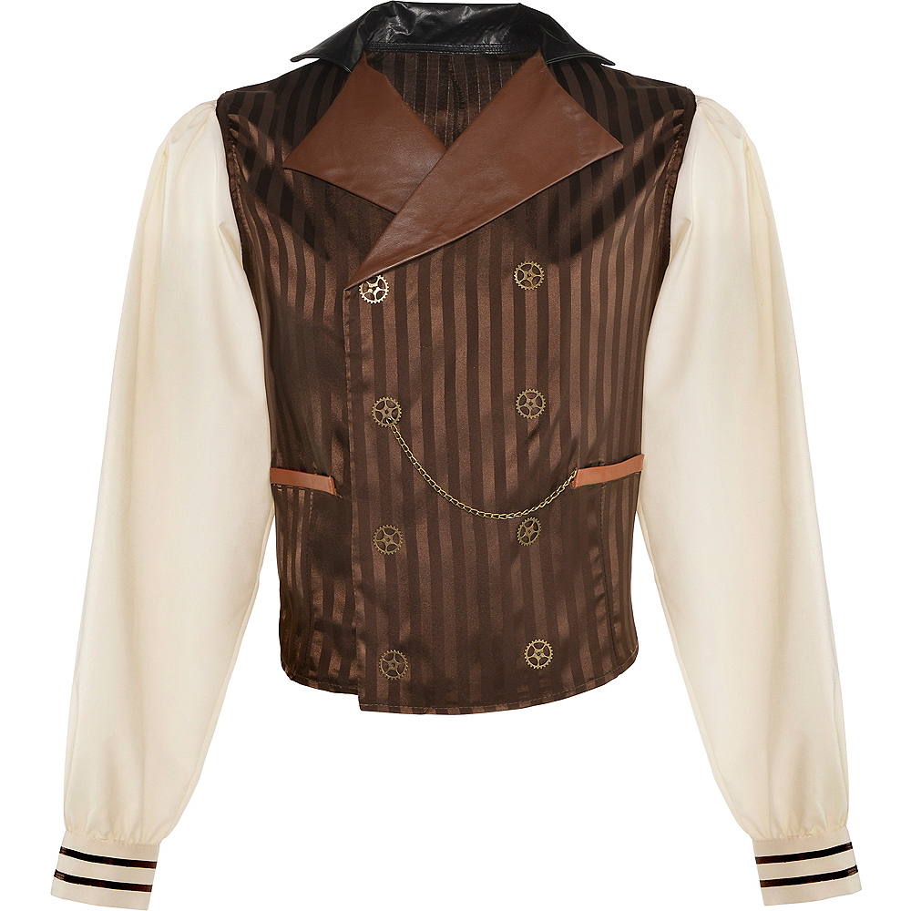 Adult Long-Sleeve Steampunk Shirt Image #2