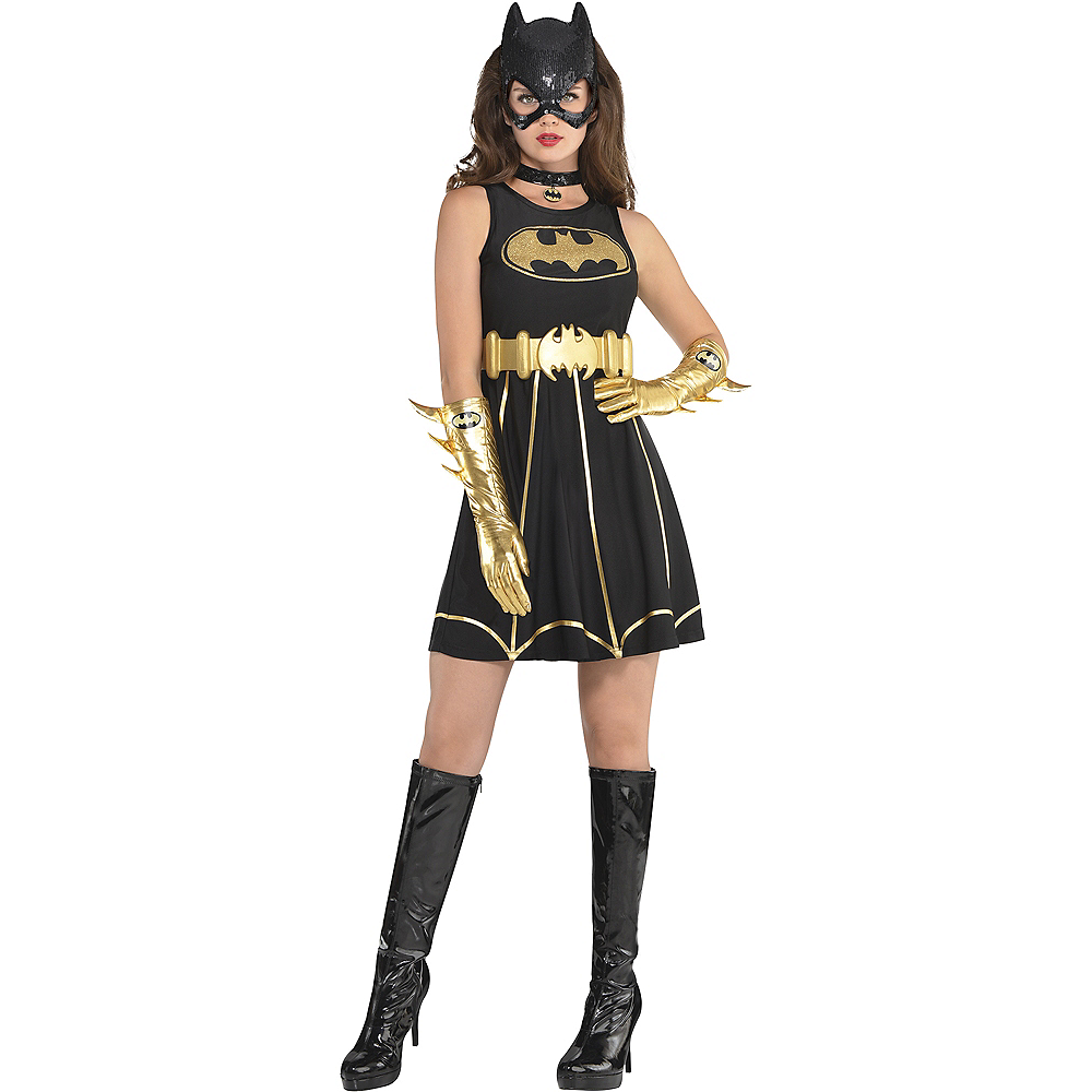 Adult Batgirl Fit & Flare Dress - Batman Image #1