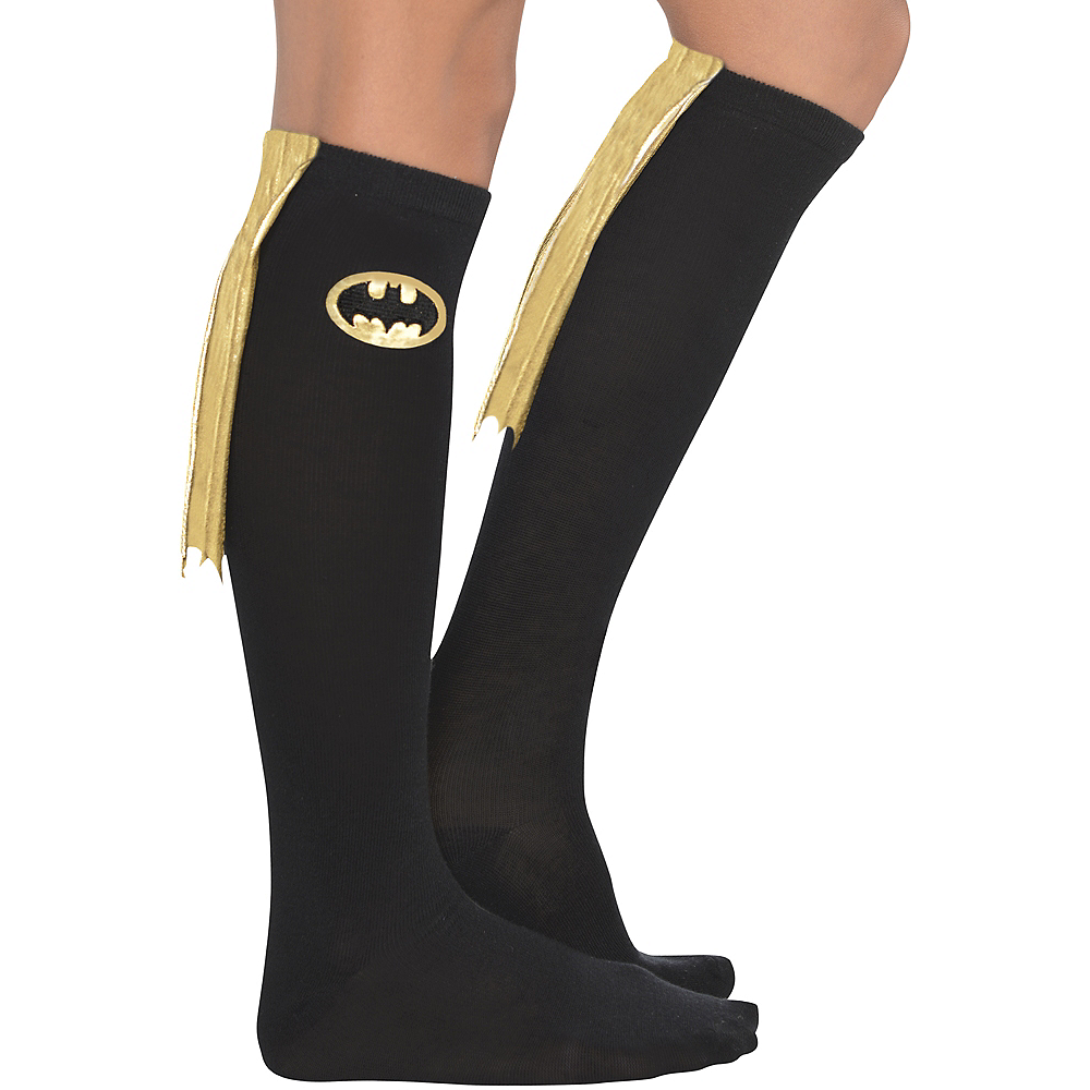 Adult Batgirl Knee Socks - Batman Image #1