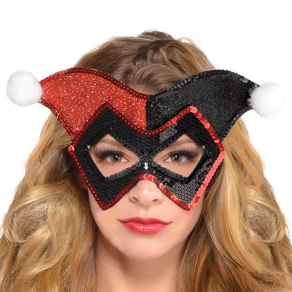 Nav Item for Glitter Harley Quinn Mask - Batman Image #2