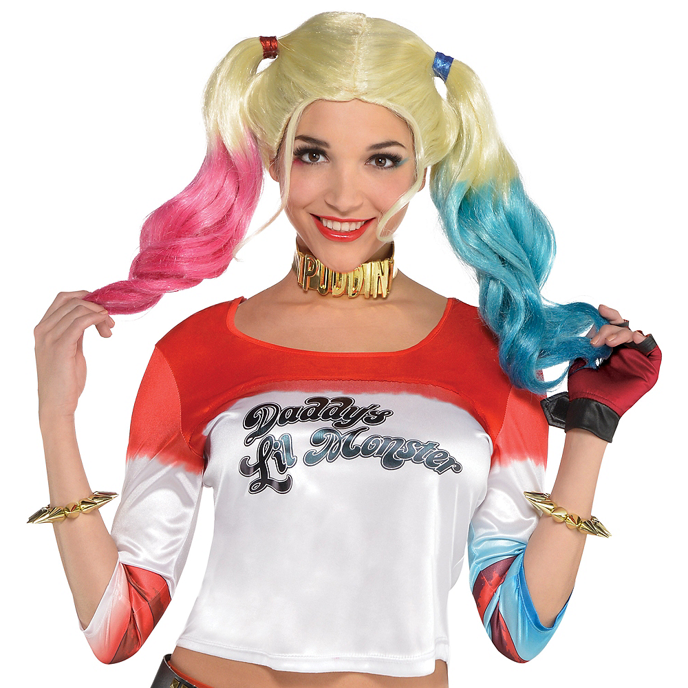 44a7090bb92638 Adult Harley Quinn Shirt   Glove Accessory Kit - Suicide Squad Image   ...
