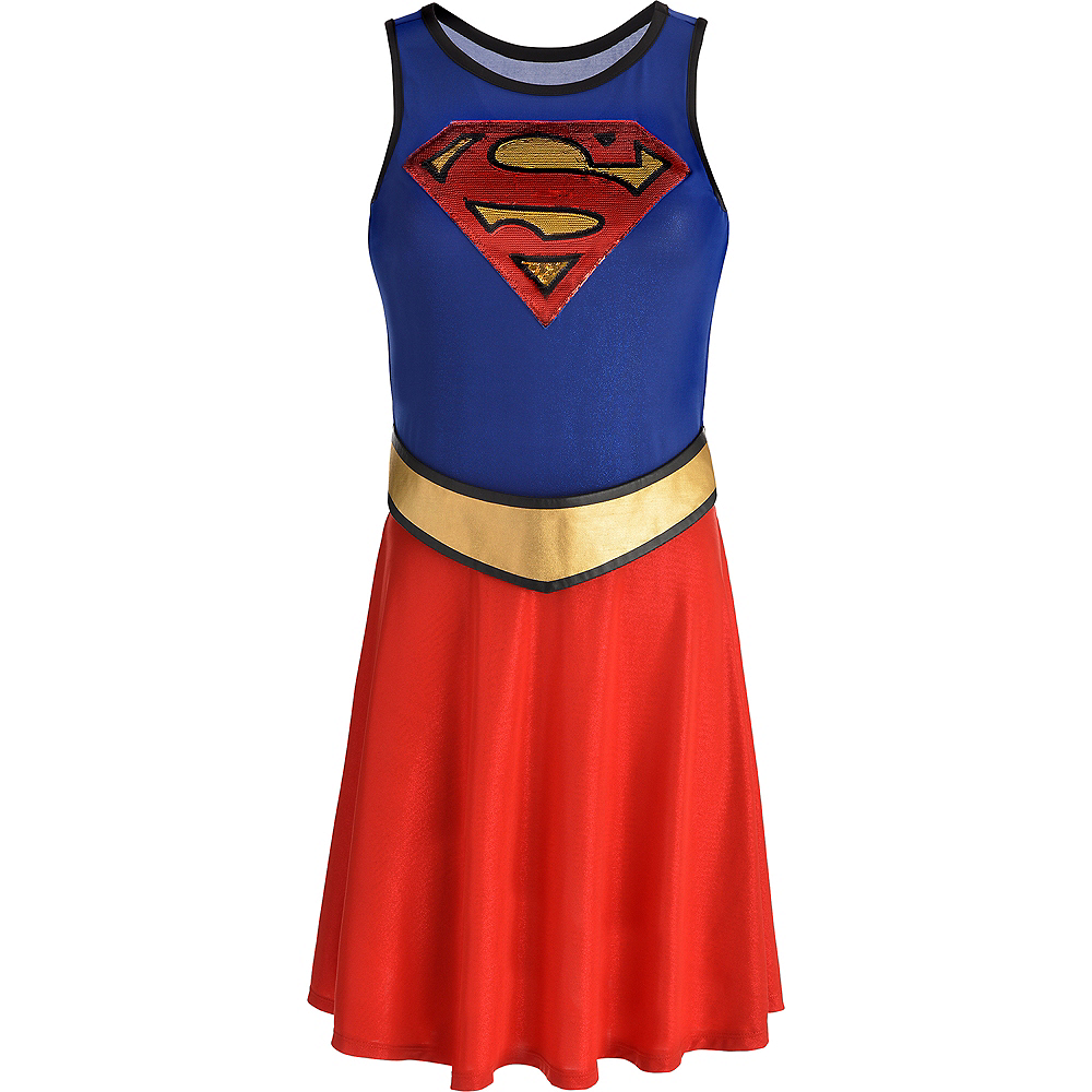 Adult Supergirl Fit & Flare Dress - Superman Image #2