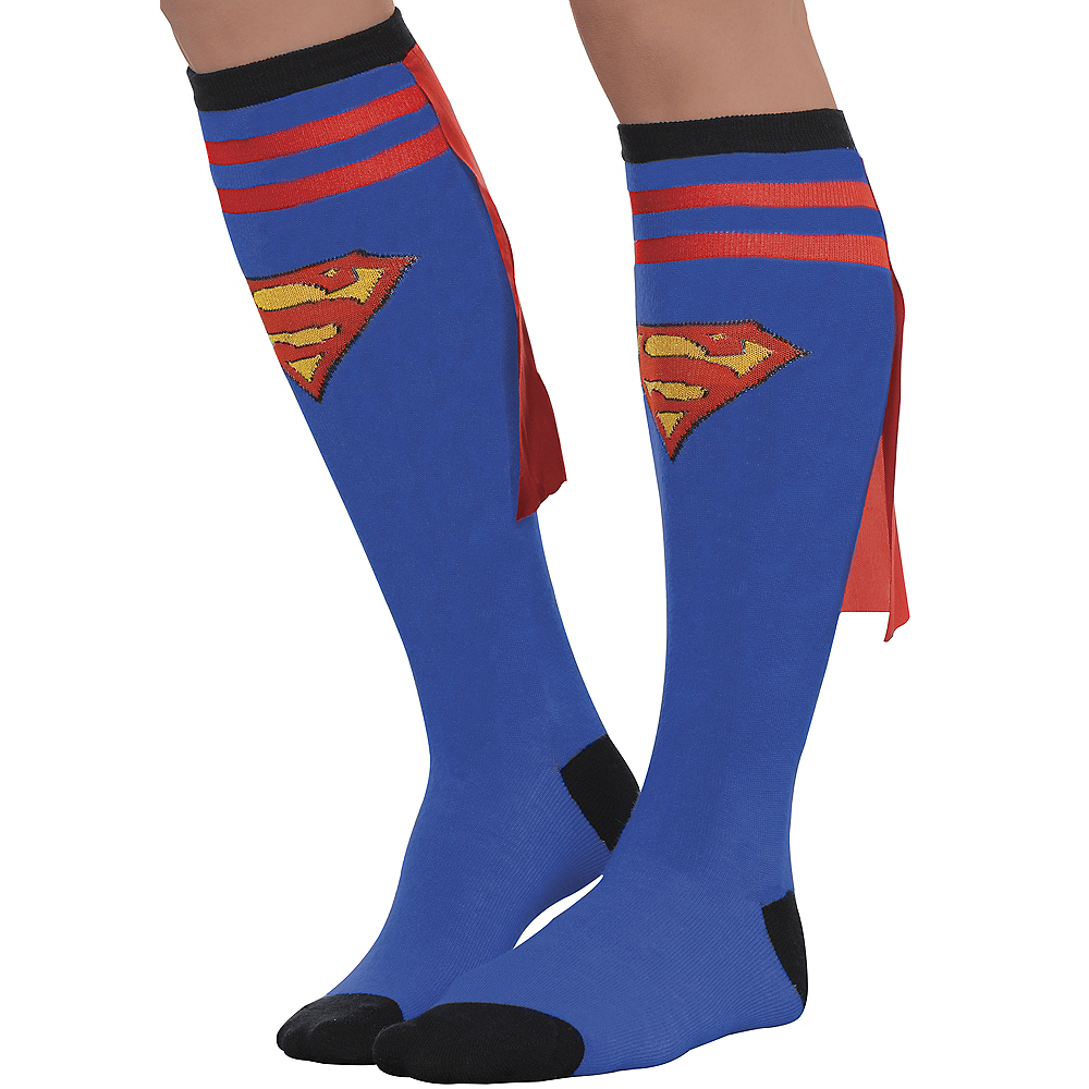 Adult Supergirl Knee Socks - Superman Image #1