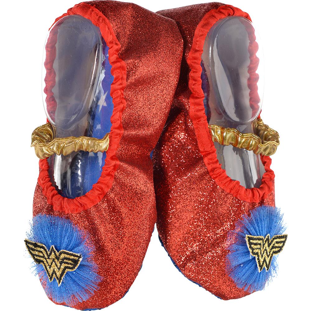 Child Glitter Wonder Woman Slipper Shoes Image #1