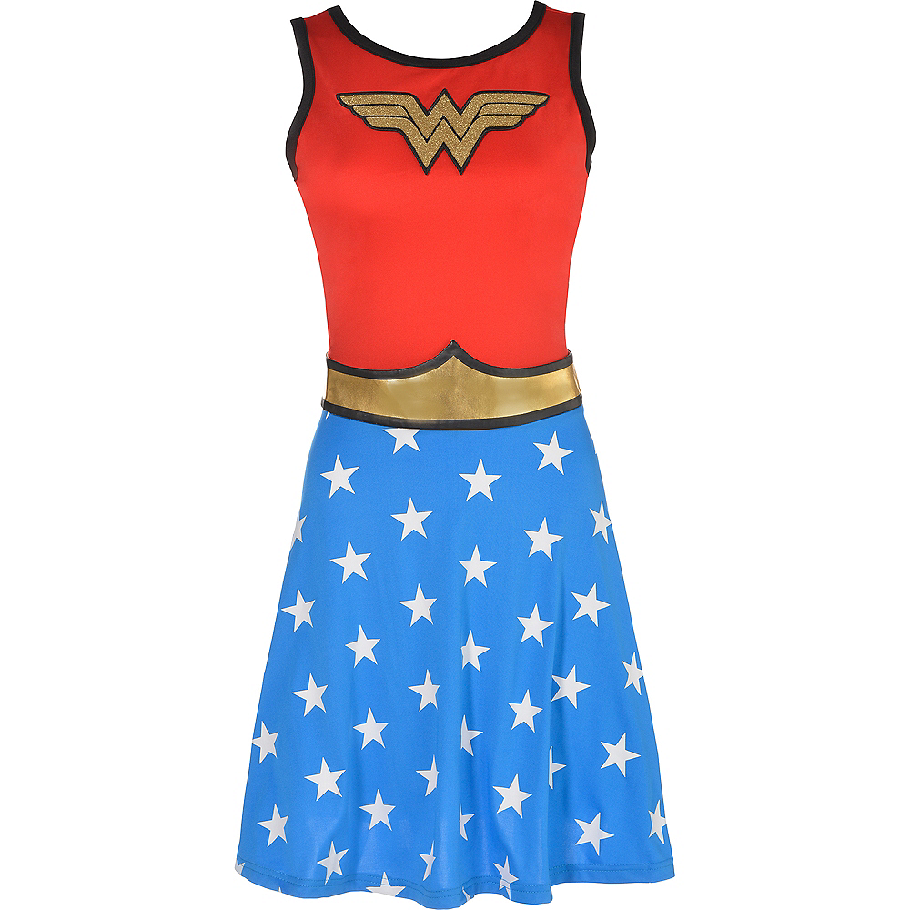 Adult Wonder Woman Fit & Flare Dress Image #2