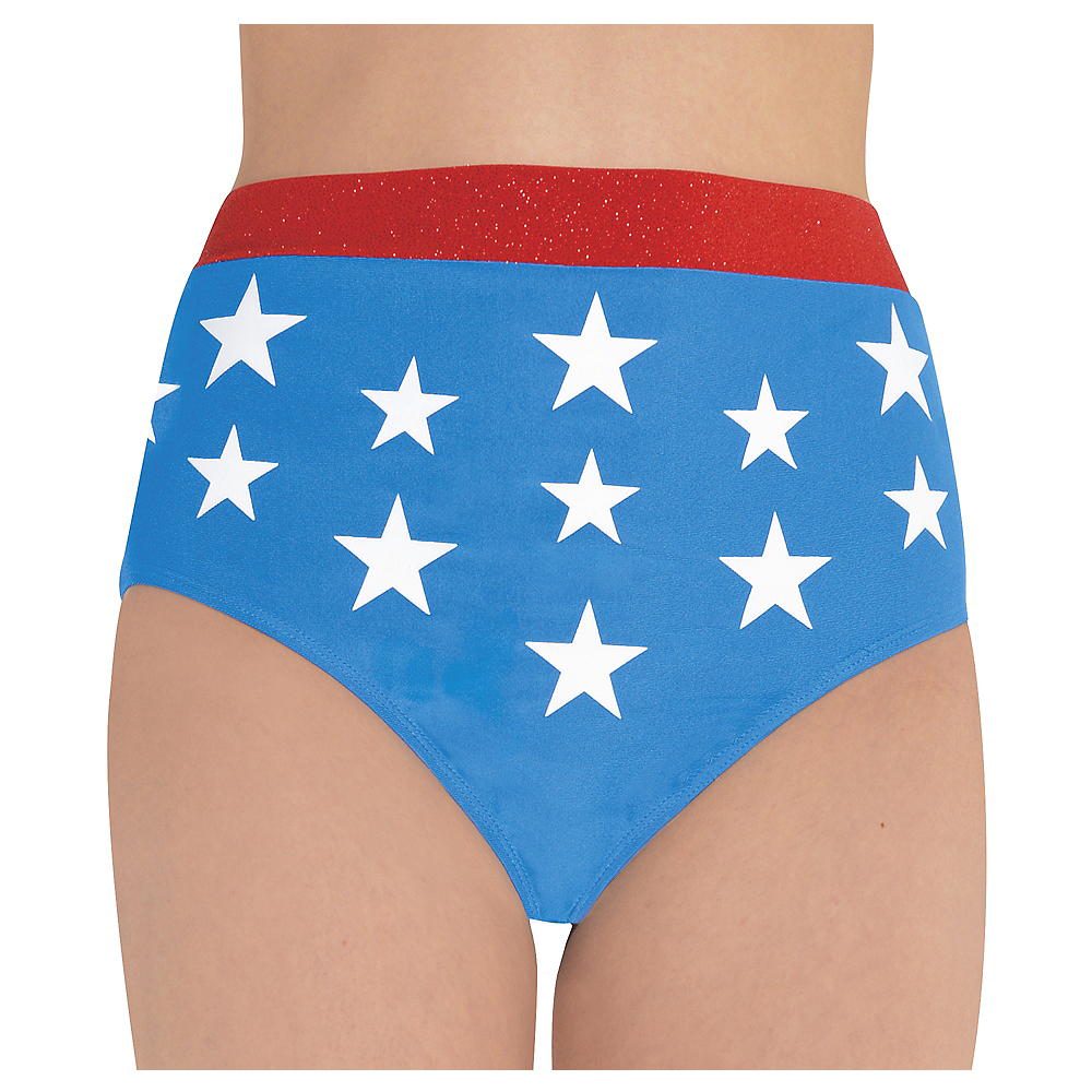 Nav Item for Adult Wonder Woman Bikini Boyshorts Image #1