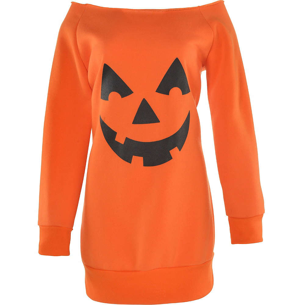 Adult Jack-o'-Lantern Off Shoulder Dress Image #2