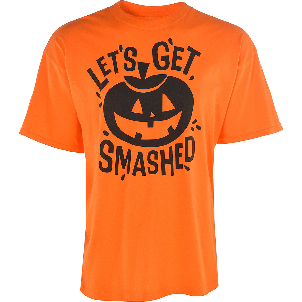 Nav Item for Adult Let's Get Smashed Jack-o'-Lantern T-Shirt Image #3