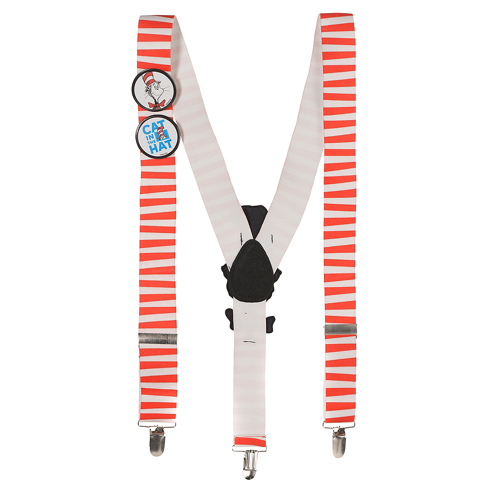 Cat in the Hat Suspenders - Dr. Seuss Image #1