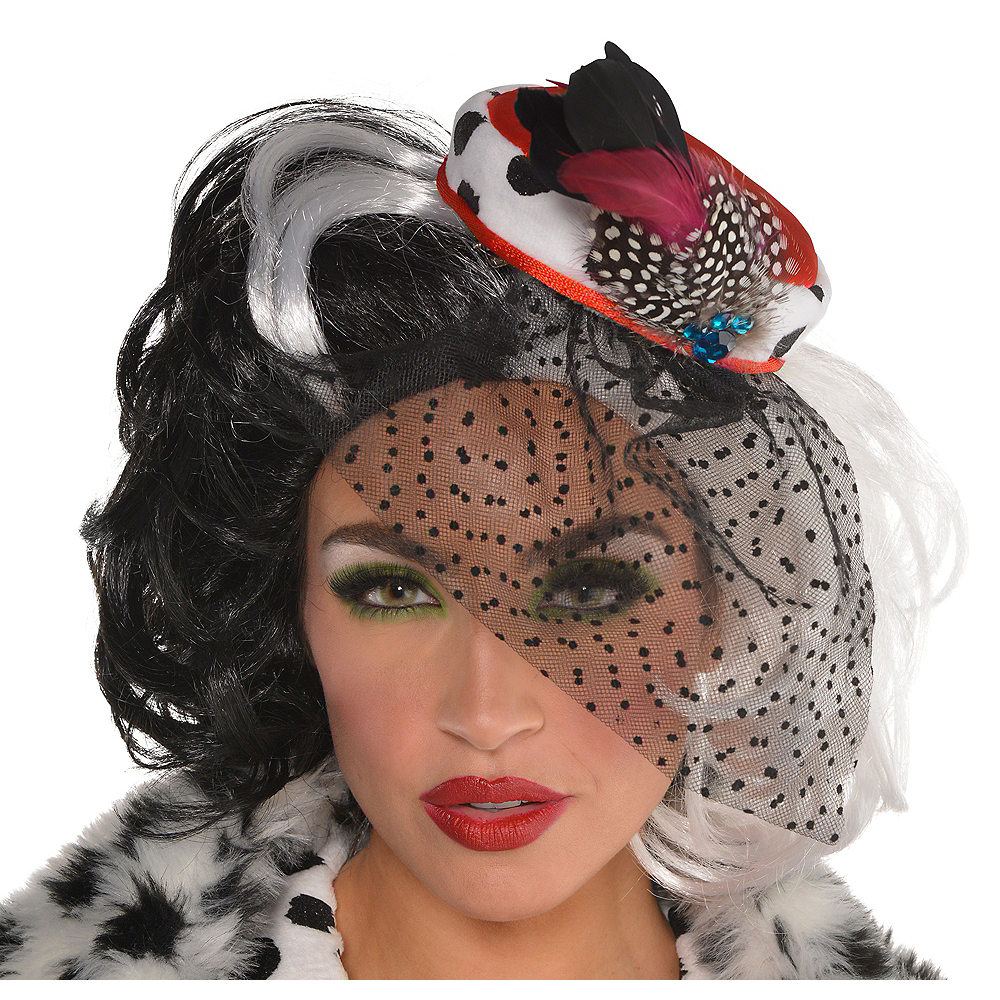 Nav Item for Adult Cruella De Vil Fascinator - 101 Dalmations Image #1