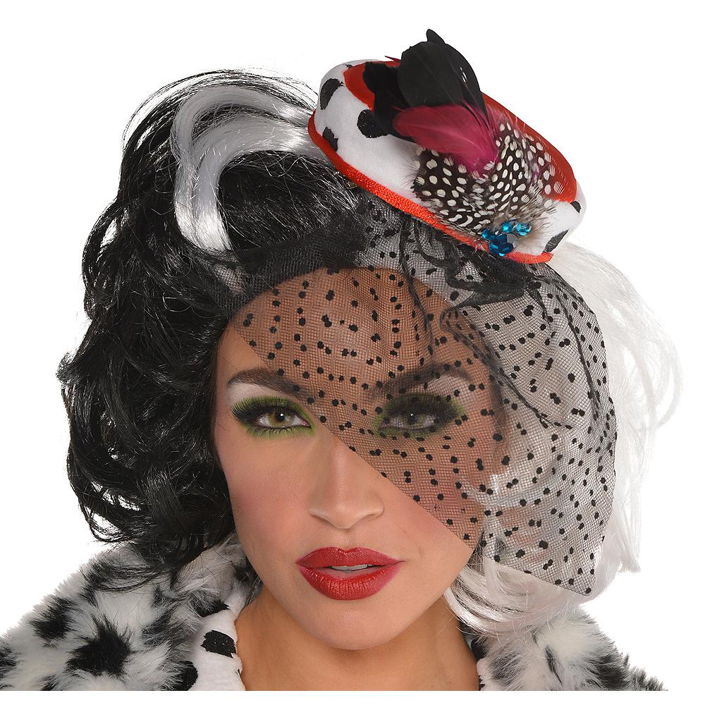 Adult Cruella De Vil Fascinator - 101 Dalmations Image #1