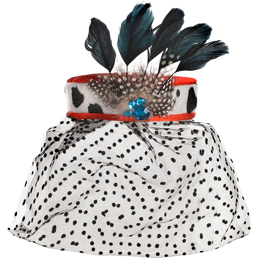 Nav Item for Adult Cruella De Vil Fascinator - 101 Dalmations Image #2