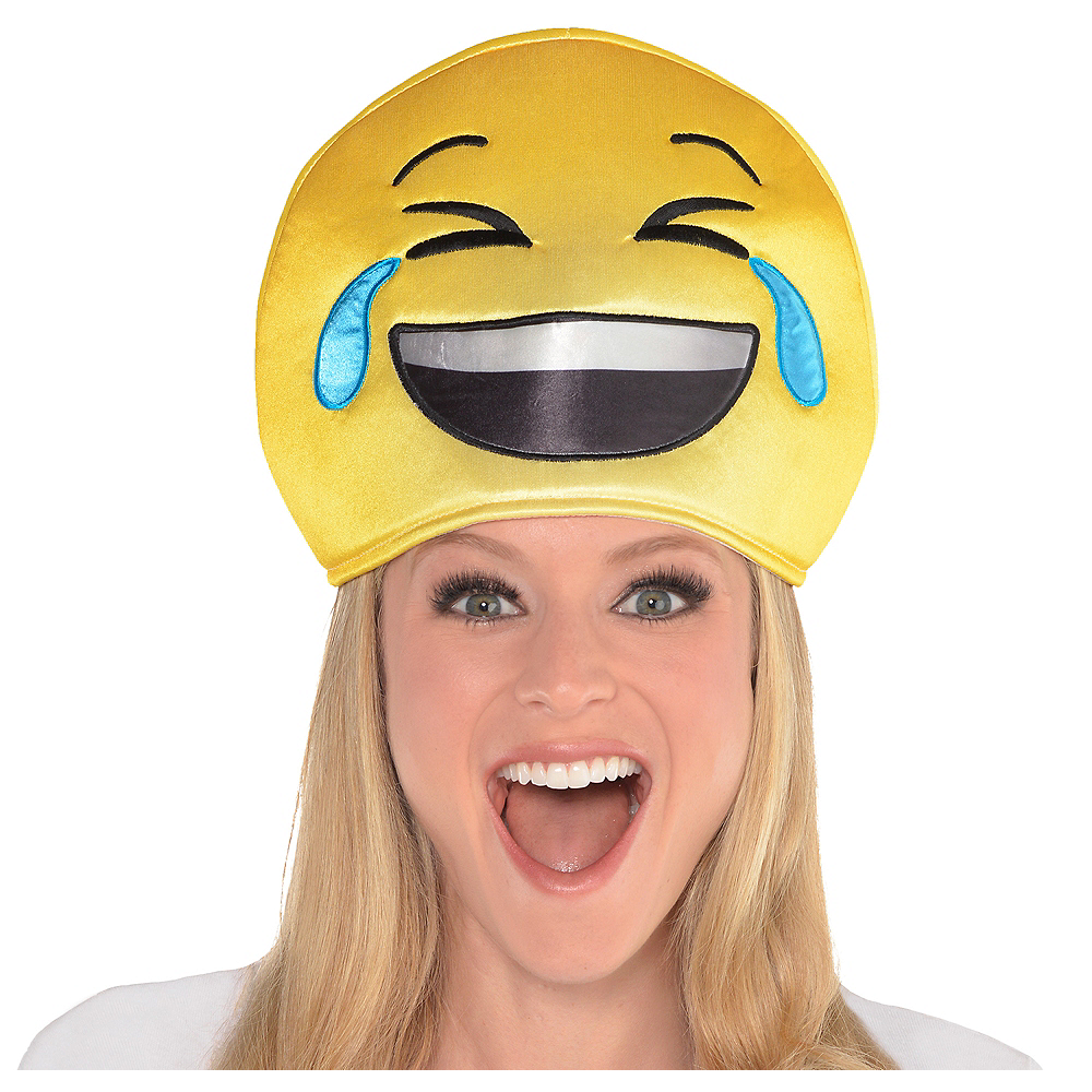 Adult Laughing Crying Smiley Hat Image #1