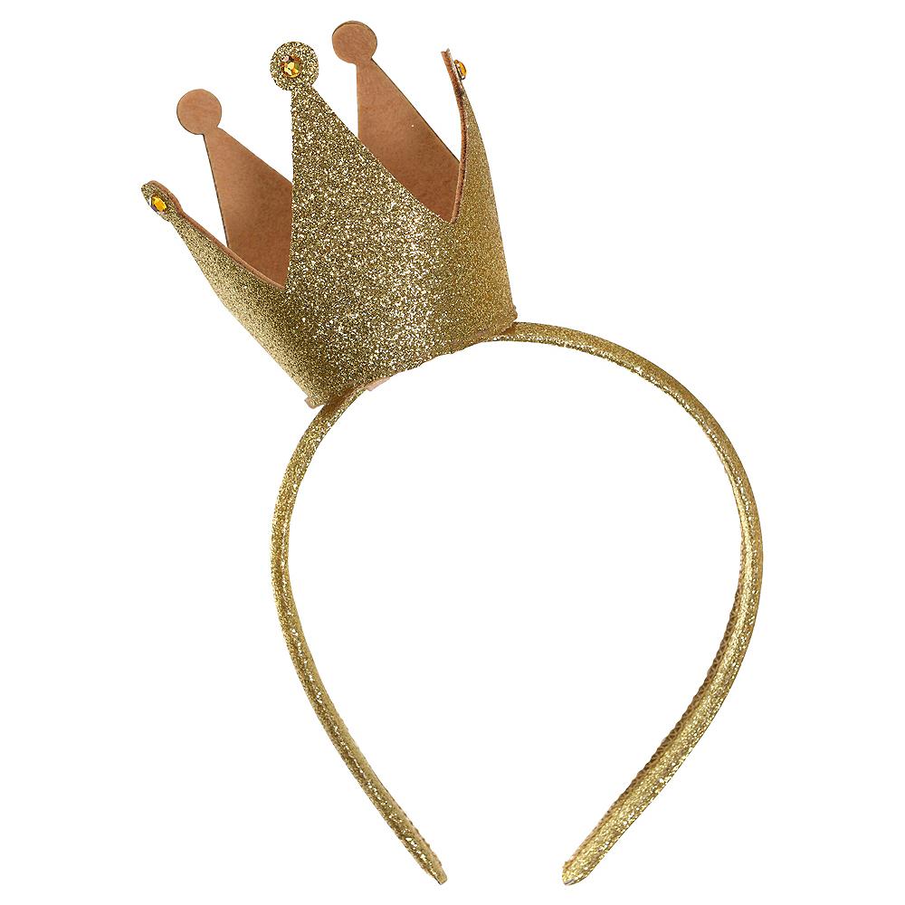Child Glitter Crown Headband Image #1