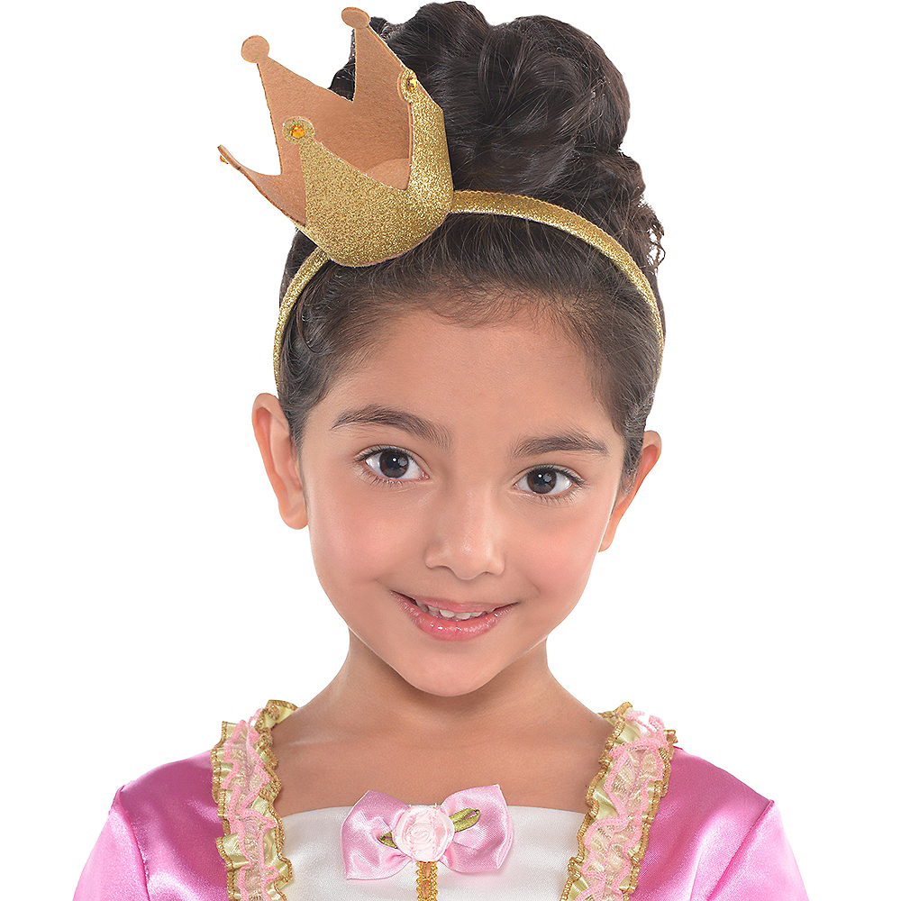 Child Glitter Crown Headband Image #2