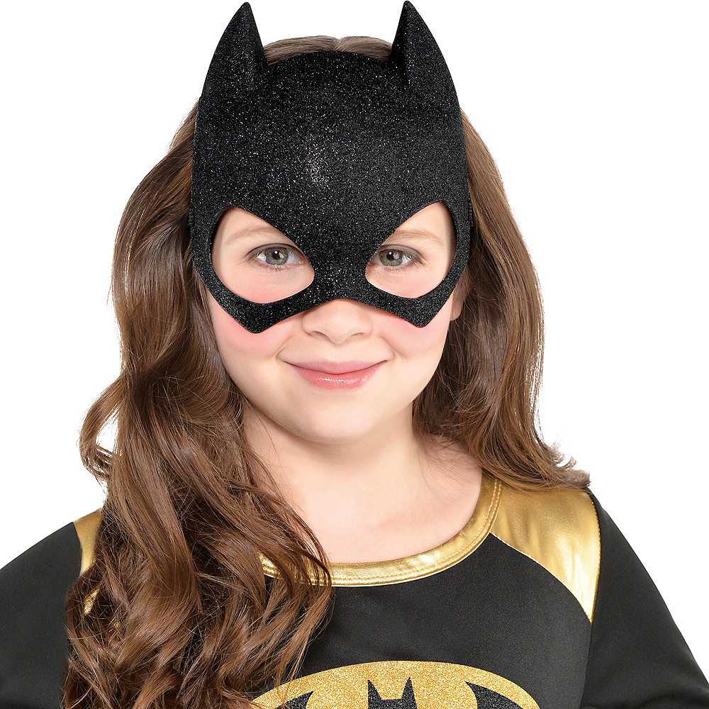 Child Glitter Batgirl Mask - Batman Image #2