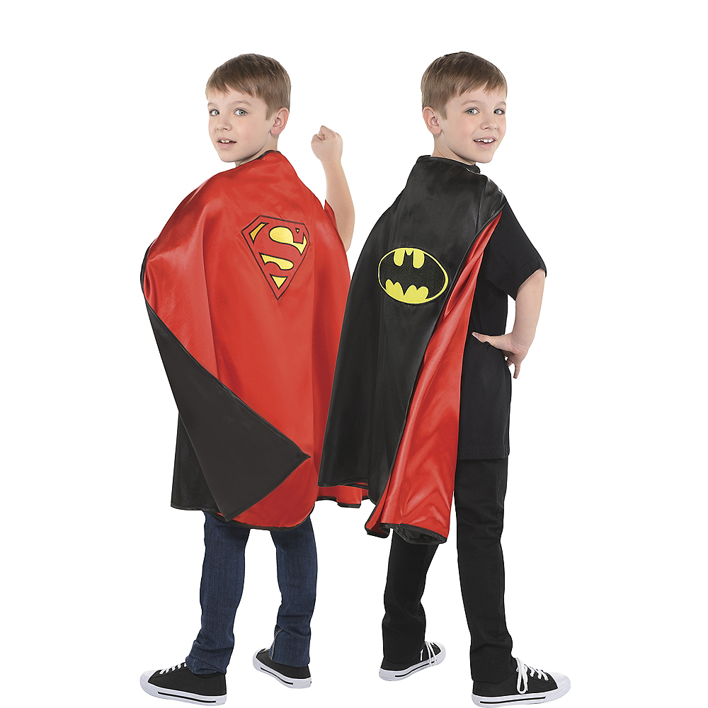 Reversible Batman & Superman Cape Image #1