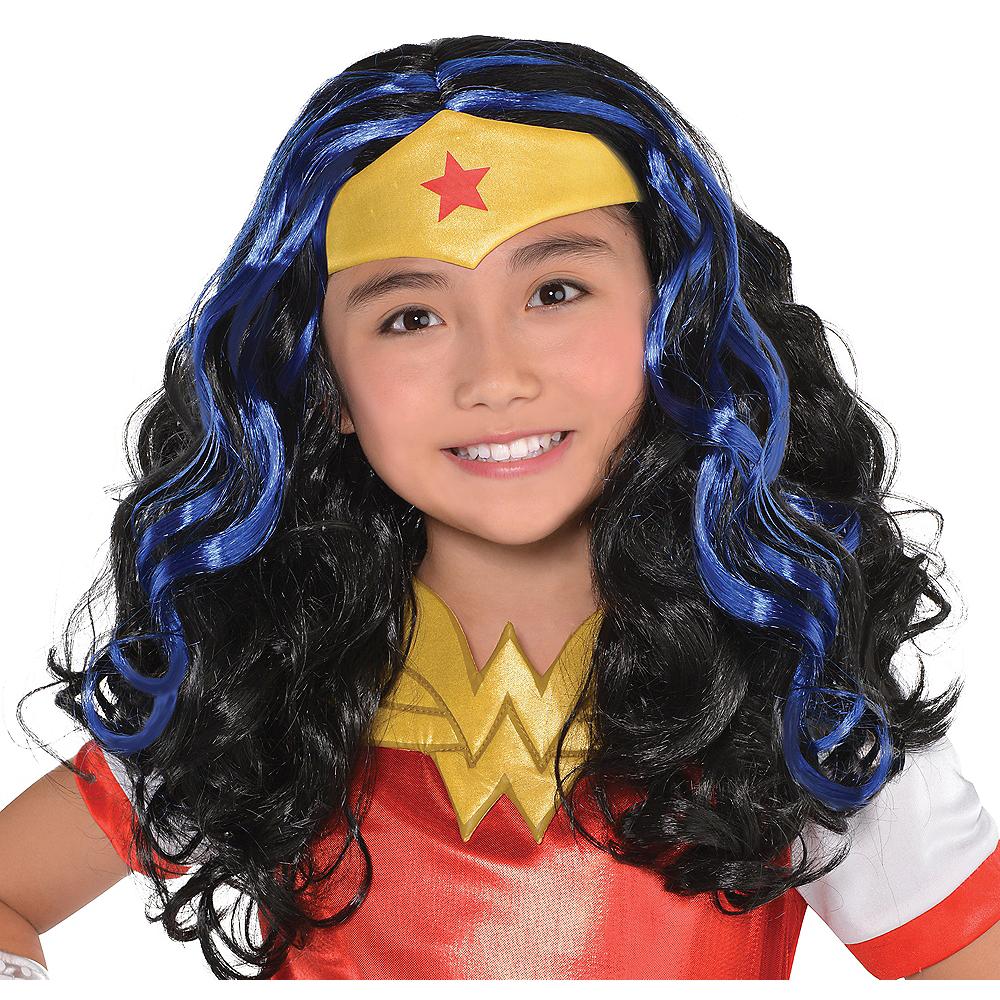 Child Black & Blue Wonder Woman Wig - DC Super Hero Girls Image #1