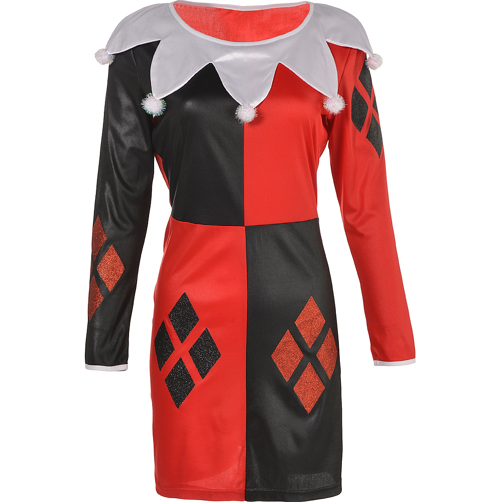 Nav Item for Adult Harley Quinn Long-Sleeve Dress - Batman Image #2