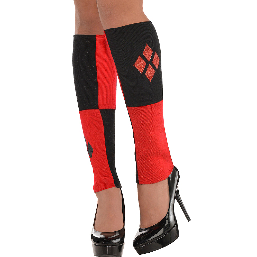 Adult Harley Quinn Leg Warmers - Batman Image #1