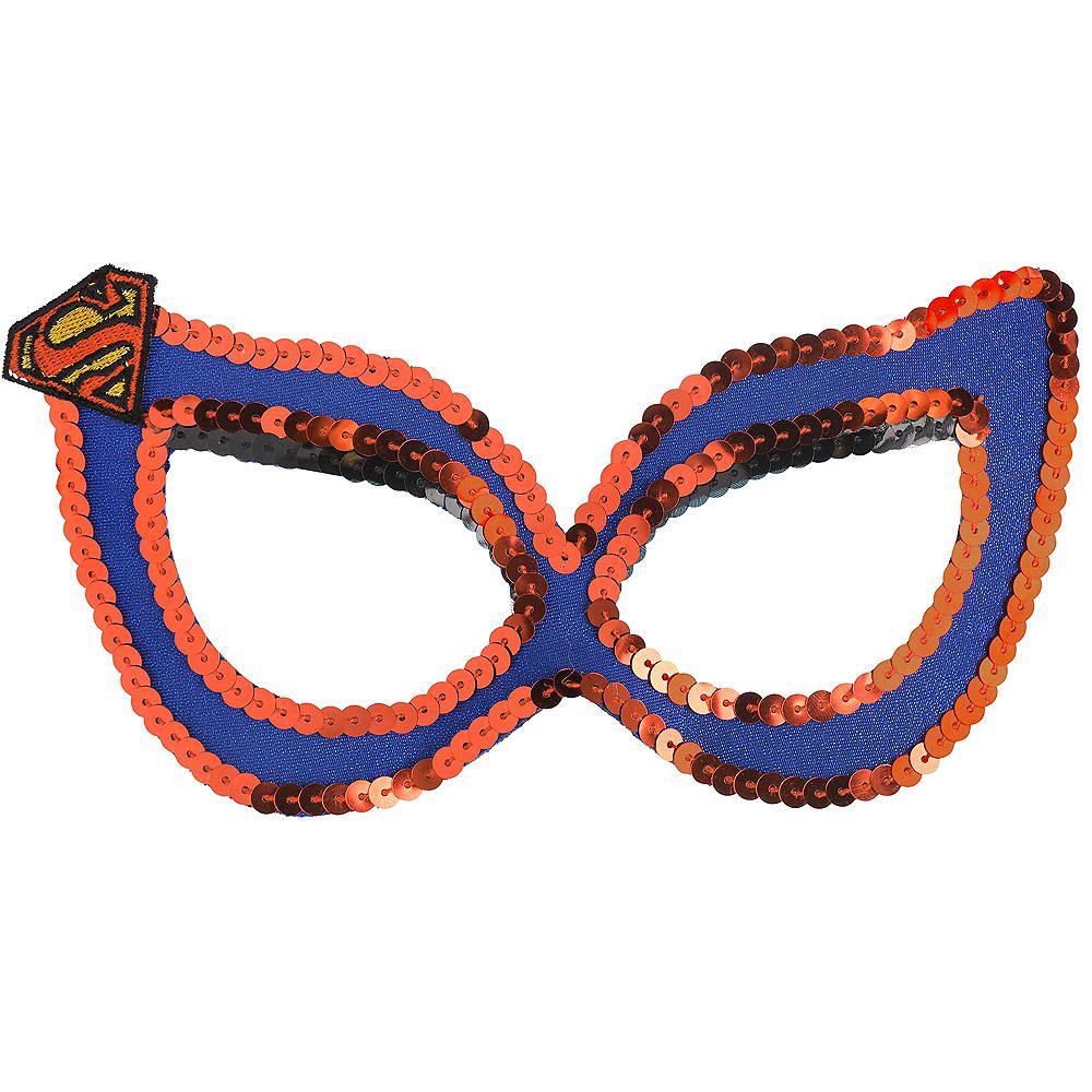 Sequin Supergirl Mask - Superman Image #1