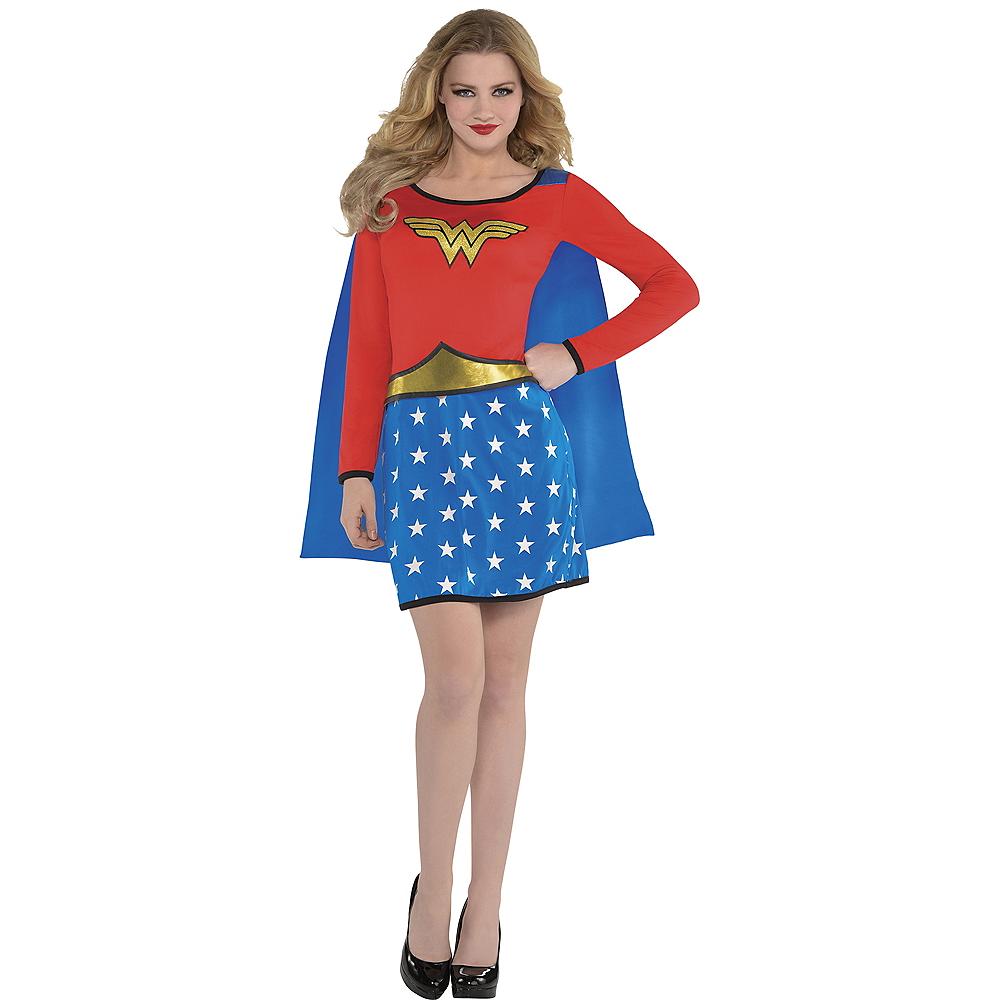 Adult Long-Sleeve Wonder Woman Dress Image #1