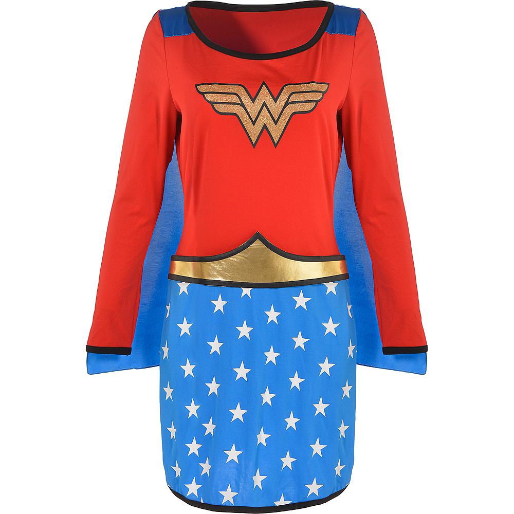 Adult Long-Sleeve Wonder Woman Dress Image #2