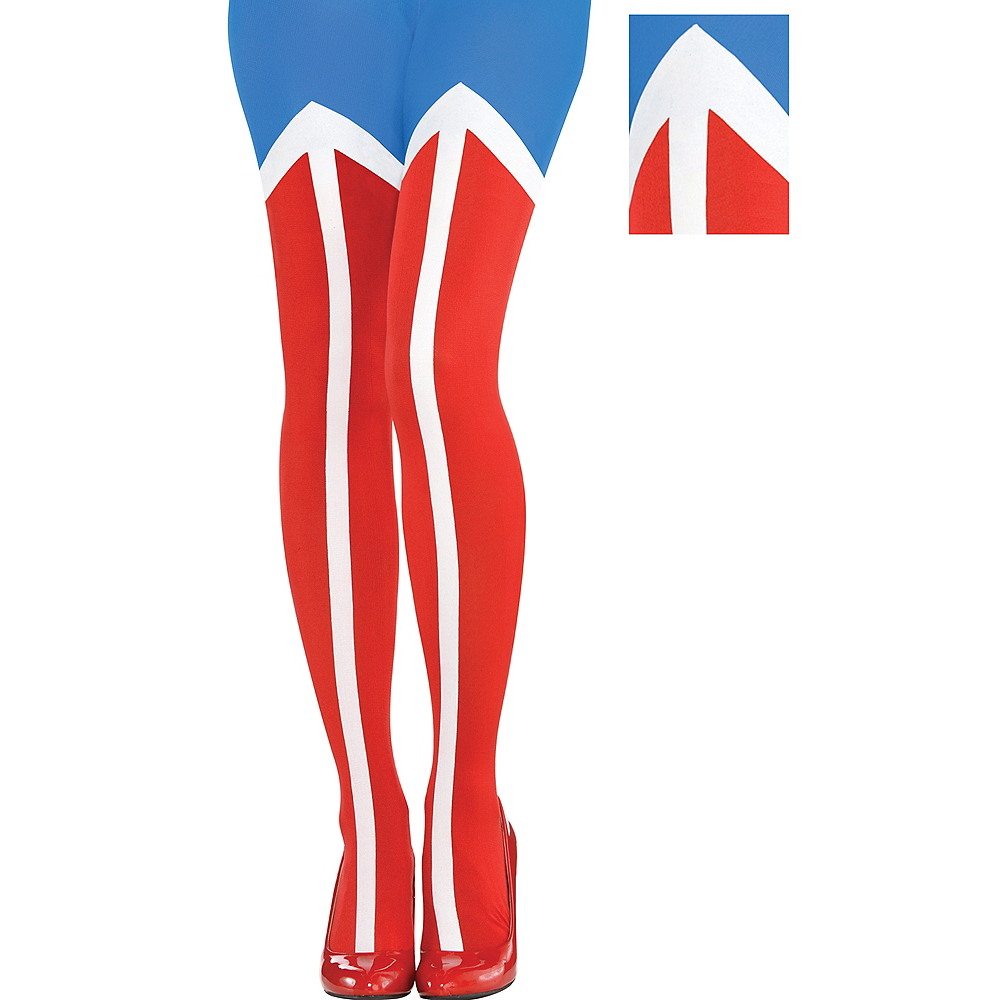Nav Item for Adult Wonder Woman Tights Image #1