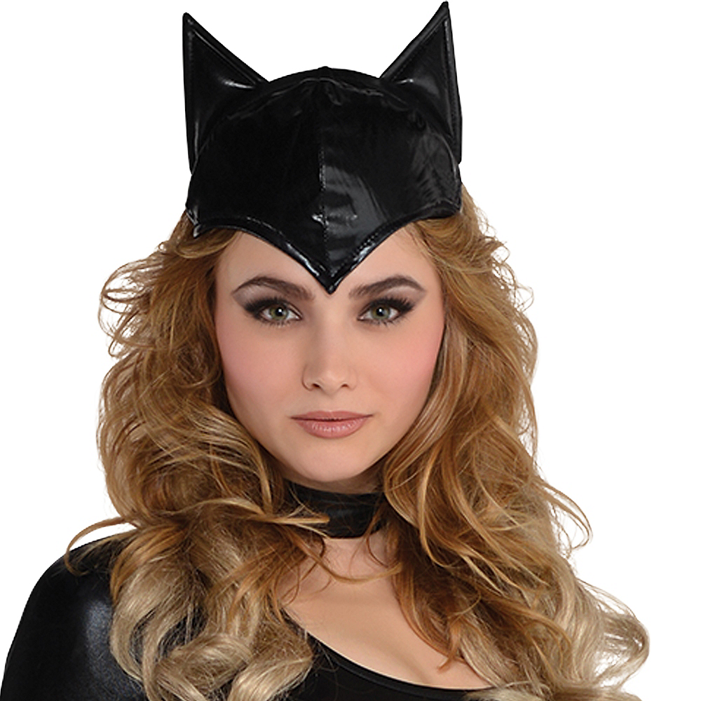 Adult Black Cat Ears Hat Image #2
