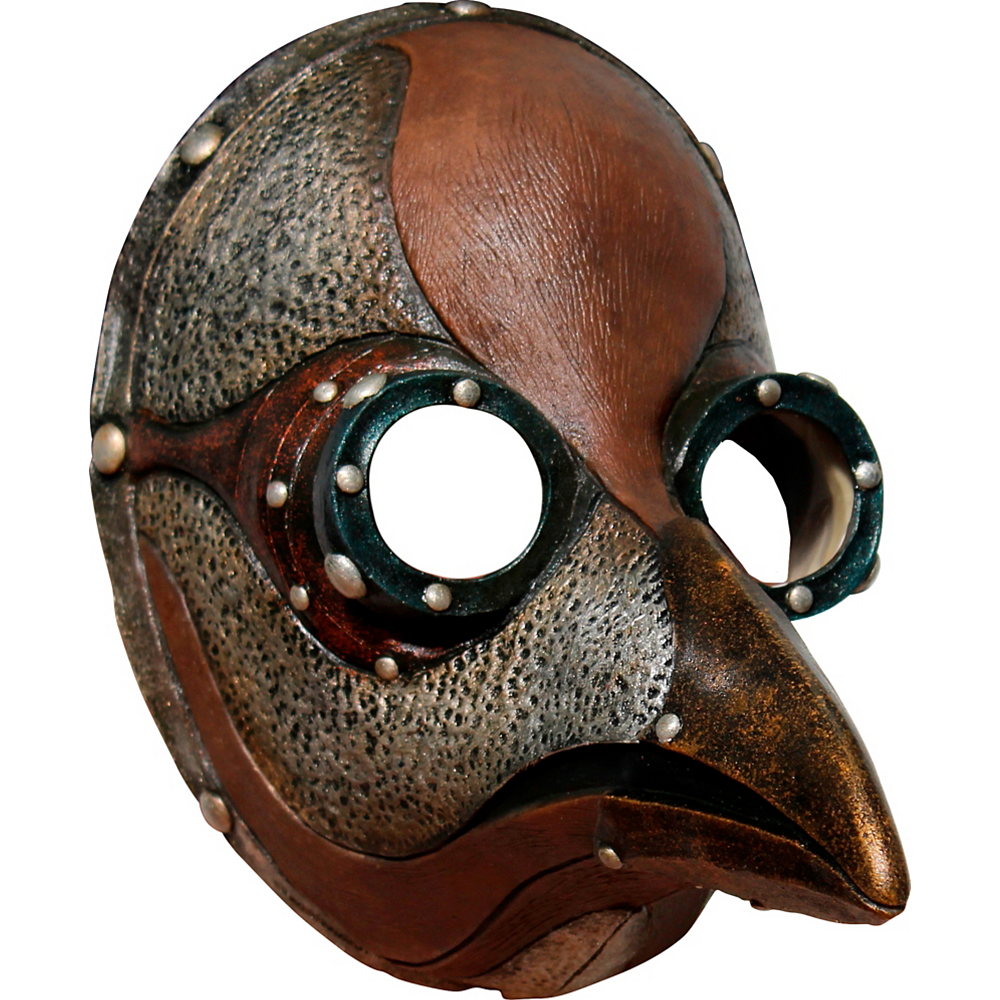 Adult Steampunk Plague Doctor Mask Image #1