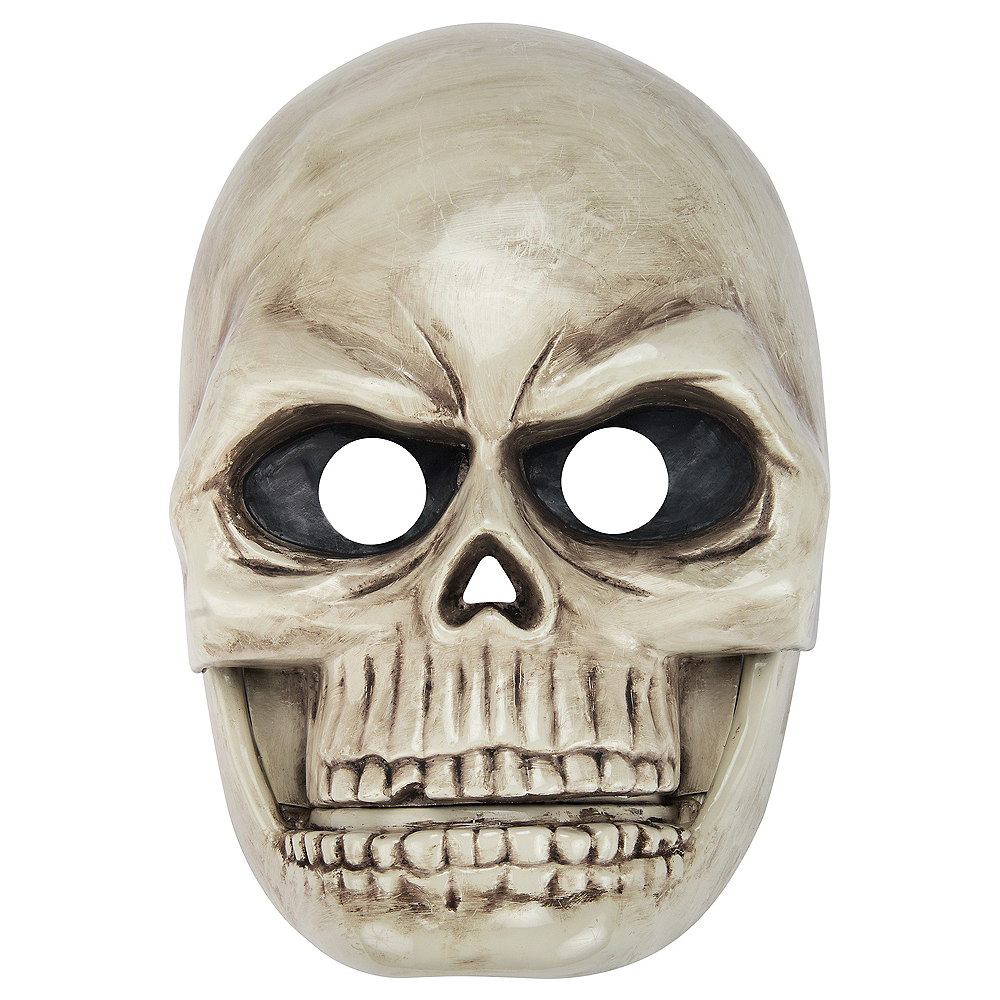 Adult Talking Skull Mask with Moving Mouth Image #1