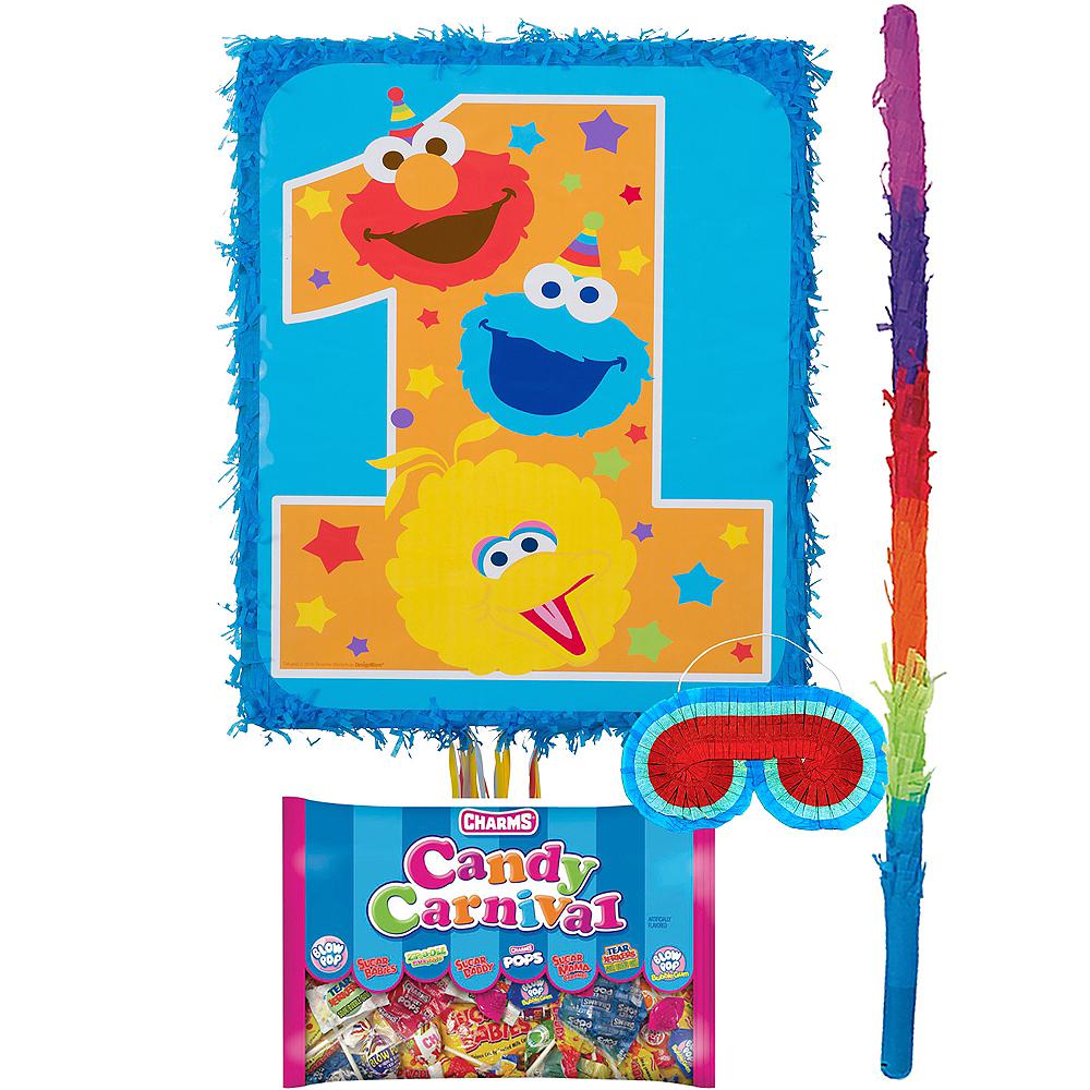 1st Birthday Sesame Street Pinata Kit Image #1