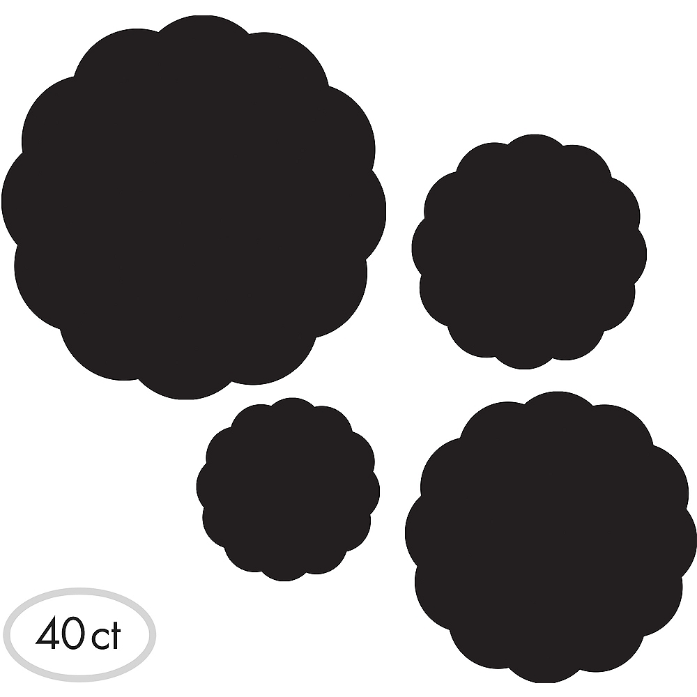Chalkboard Round Serving Papers 40ct Image #1