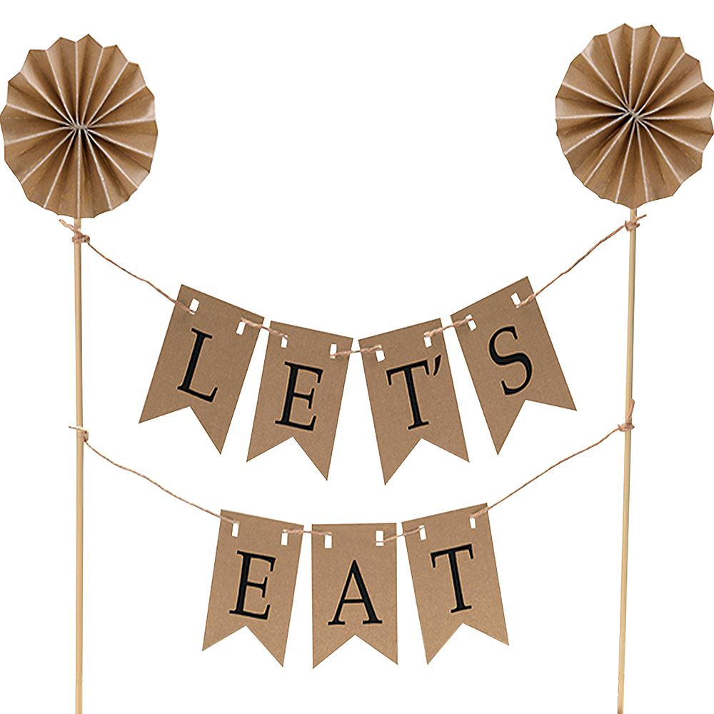 Nav Item for Kraft Pennant Banner Cake Topper Image #1