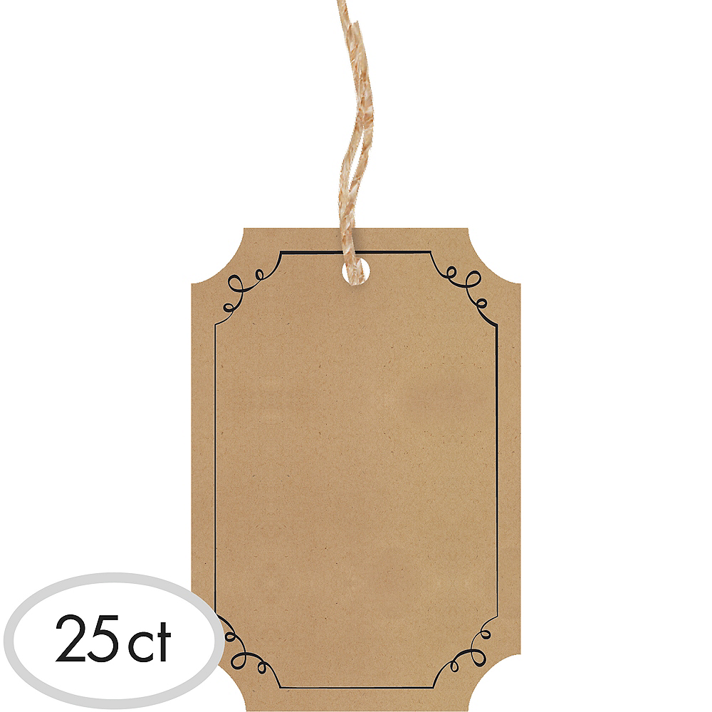 Nav Item for Kraft Tags 25ct Image #1