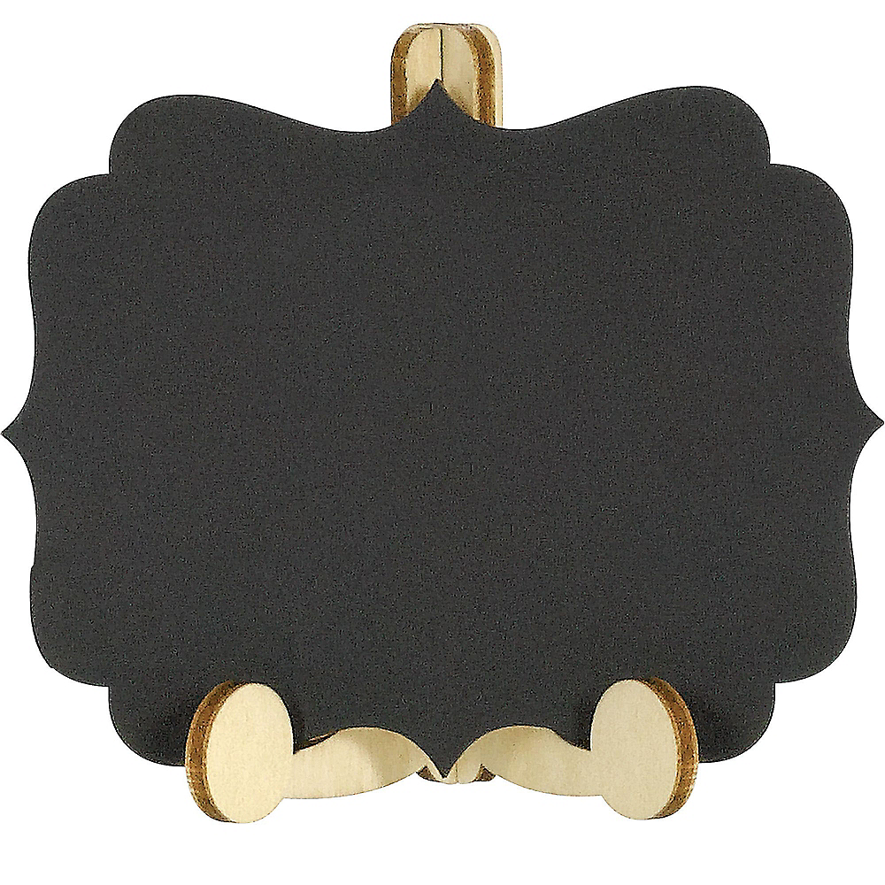 Mini Chalkboard Wood Easel Signs 6ct Image #1