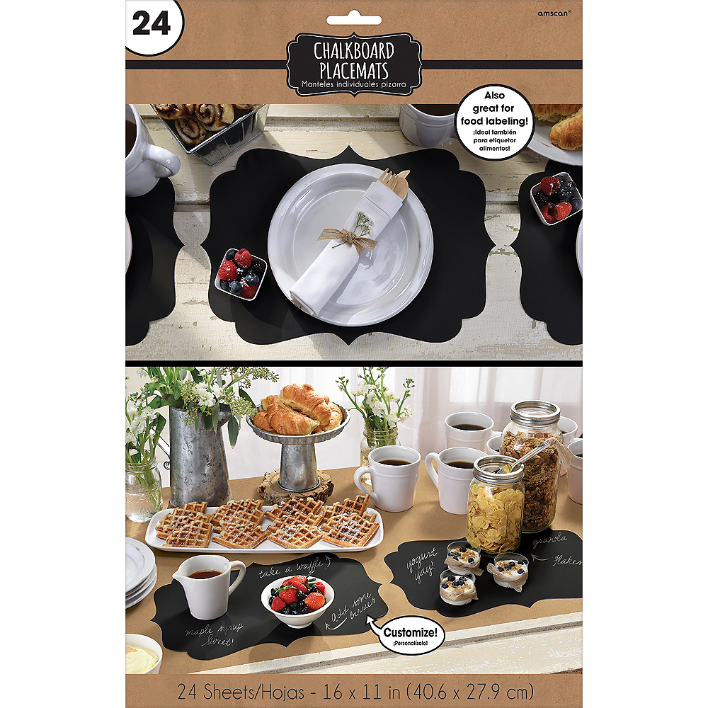Chalkboard Paper Placemats 24ct Image #2