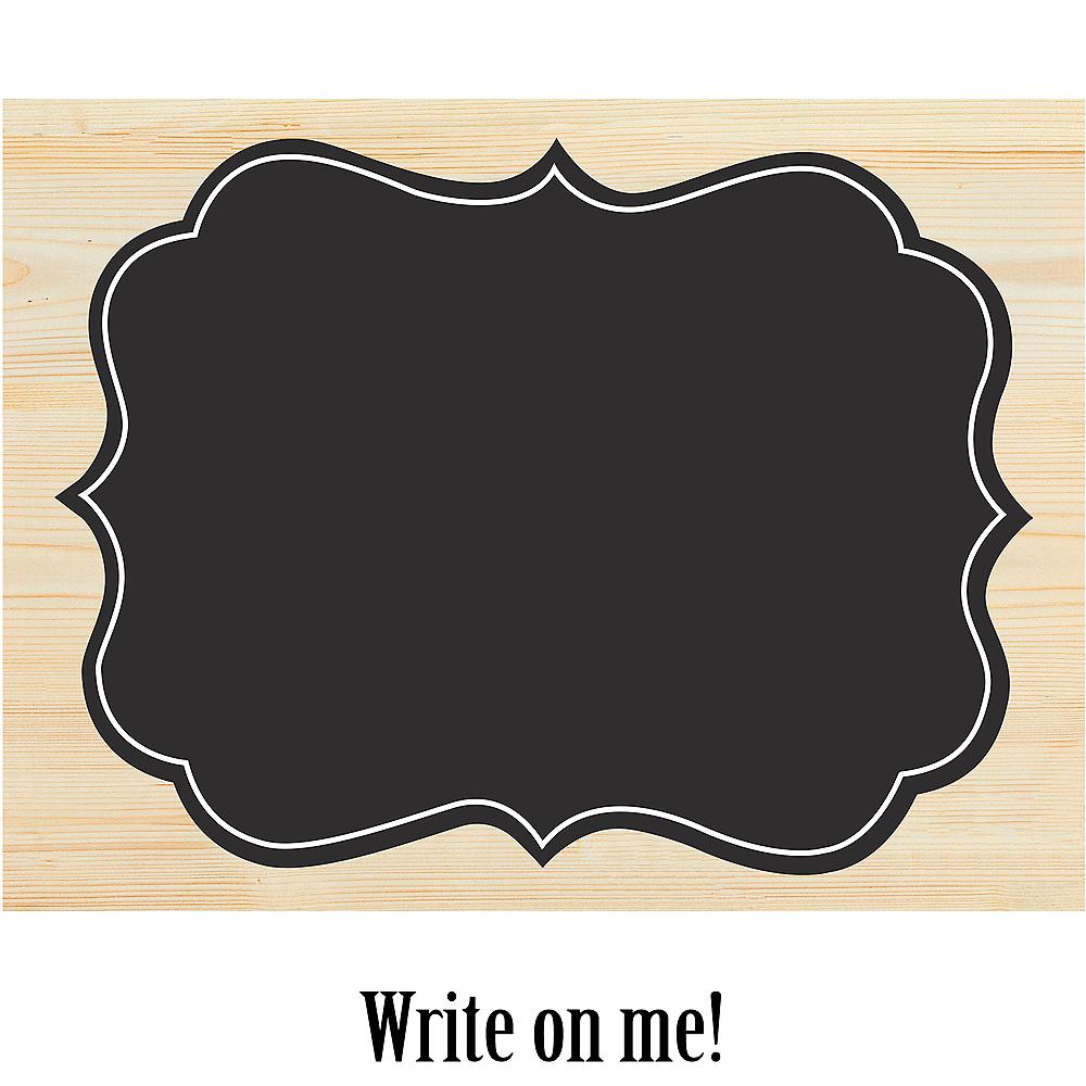 Large Chalkboard Wood Easel Sign Image #1