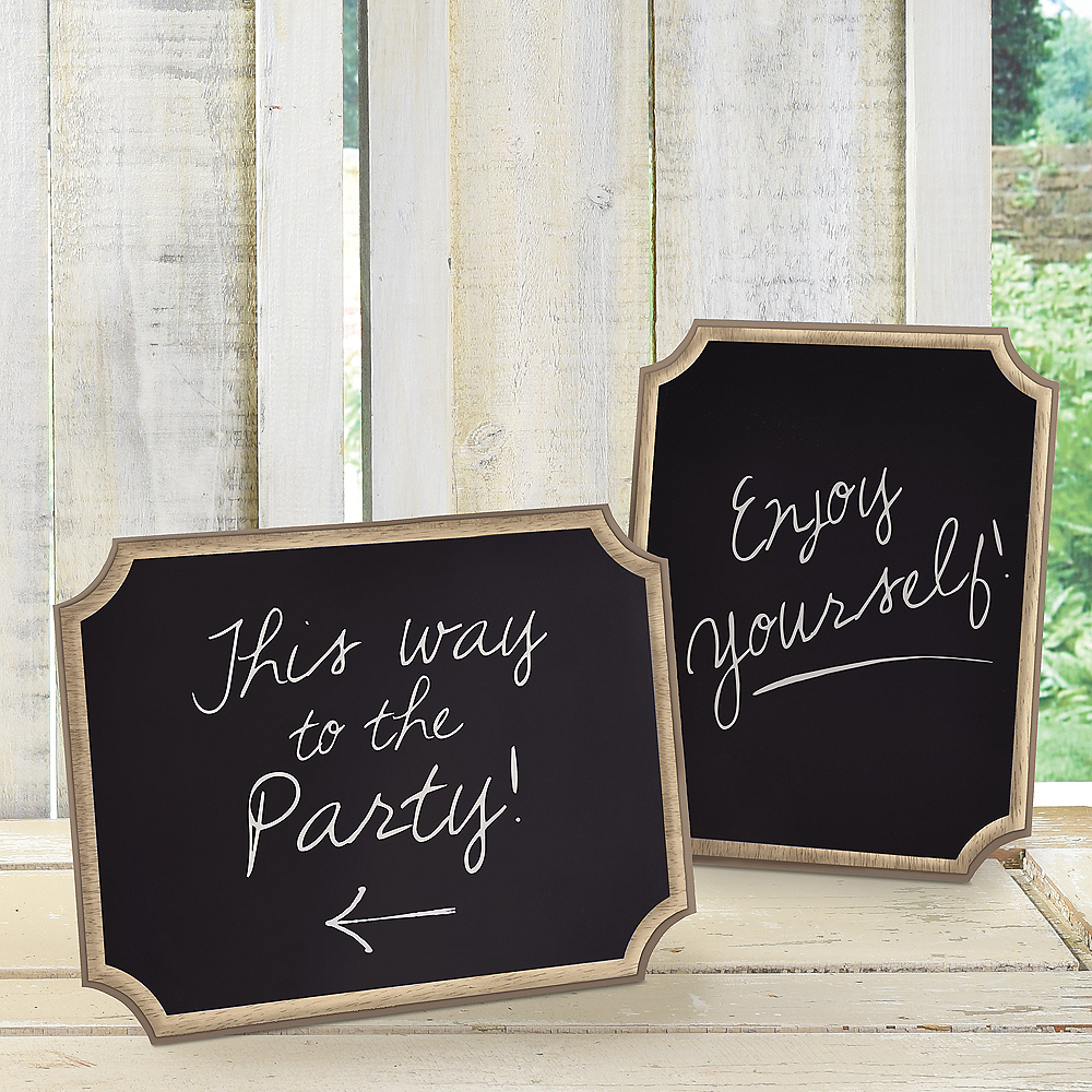 Chalkboard Wood Easel Signs 2ct Image #2