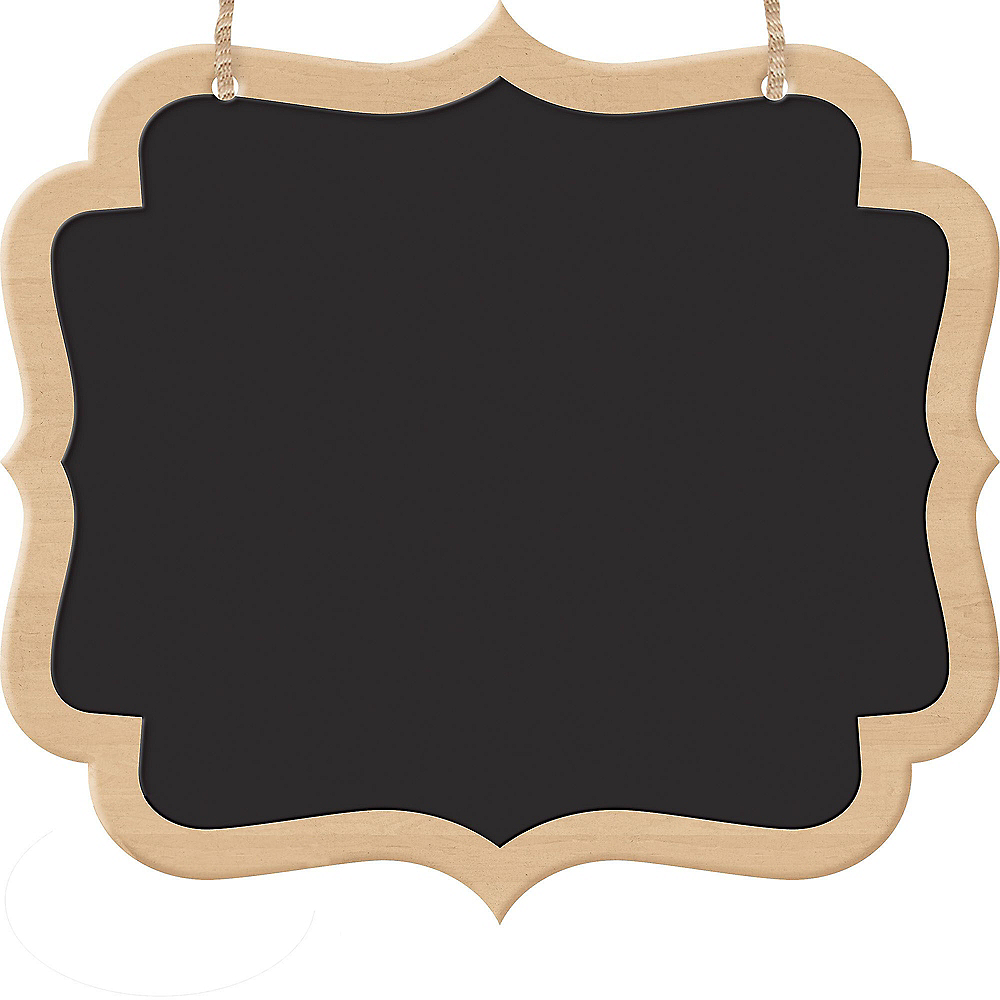Scroll Chalkboard Wood Signs 2ct Image #1