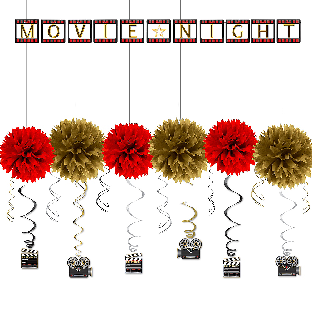 Nav Item for Hollywood Movie Night Super Decorating Kit Image #1