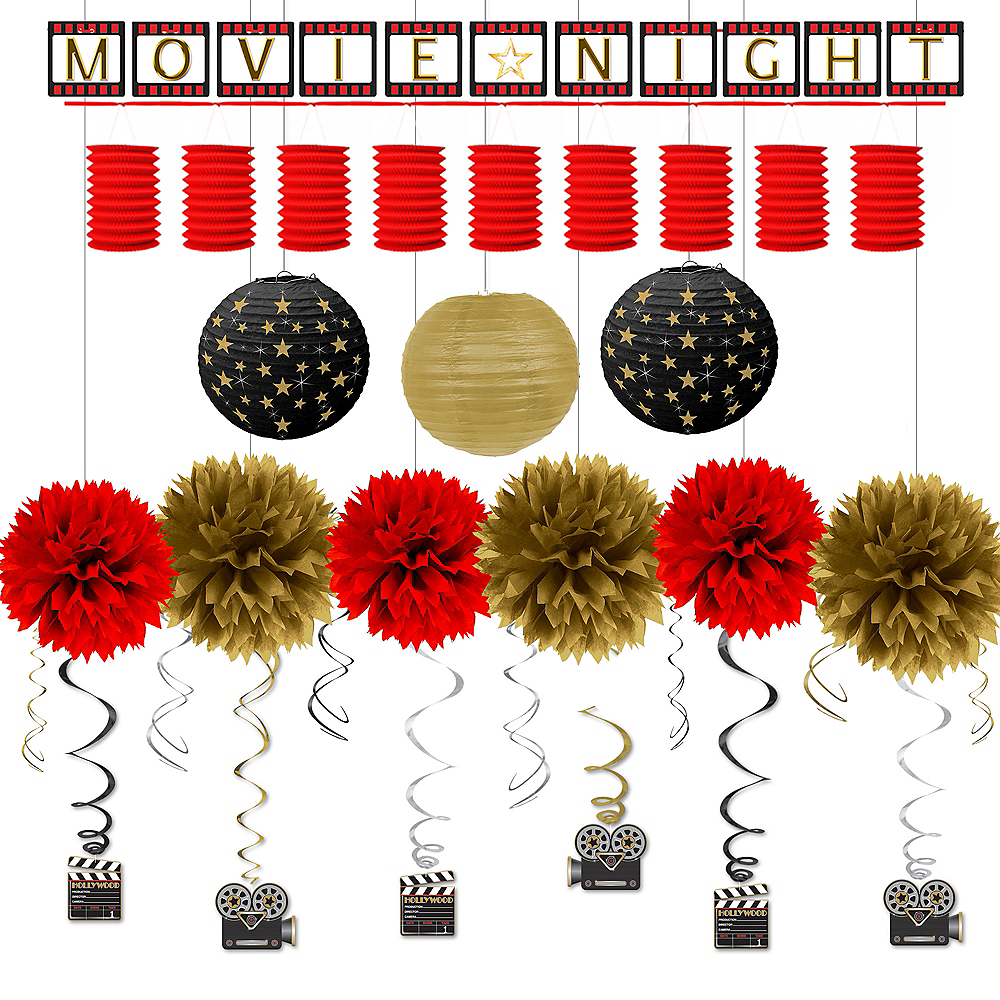 Hollywood Movie Night Deluxe Decorating Kit Image #1