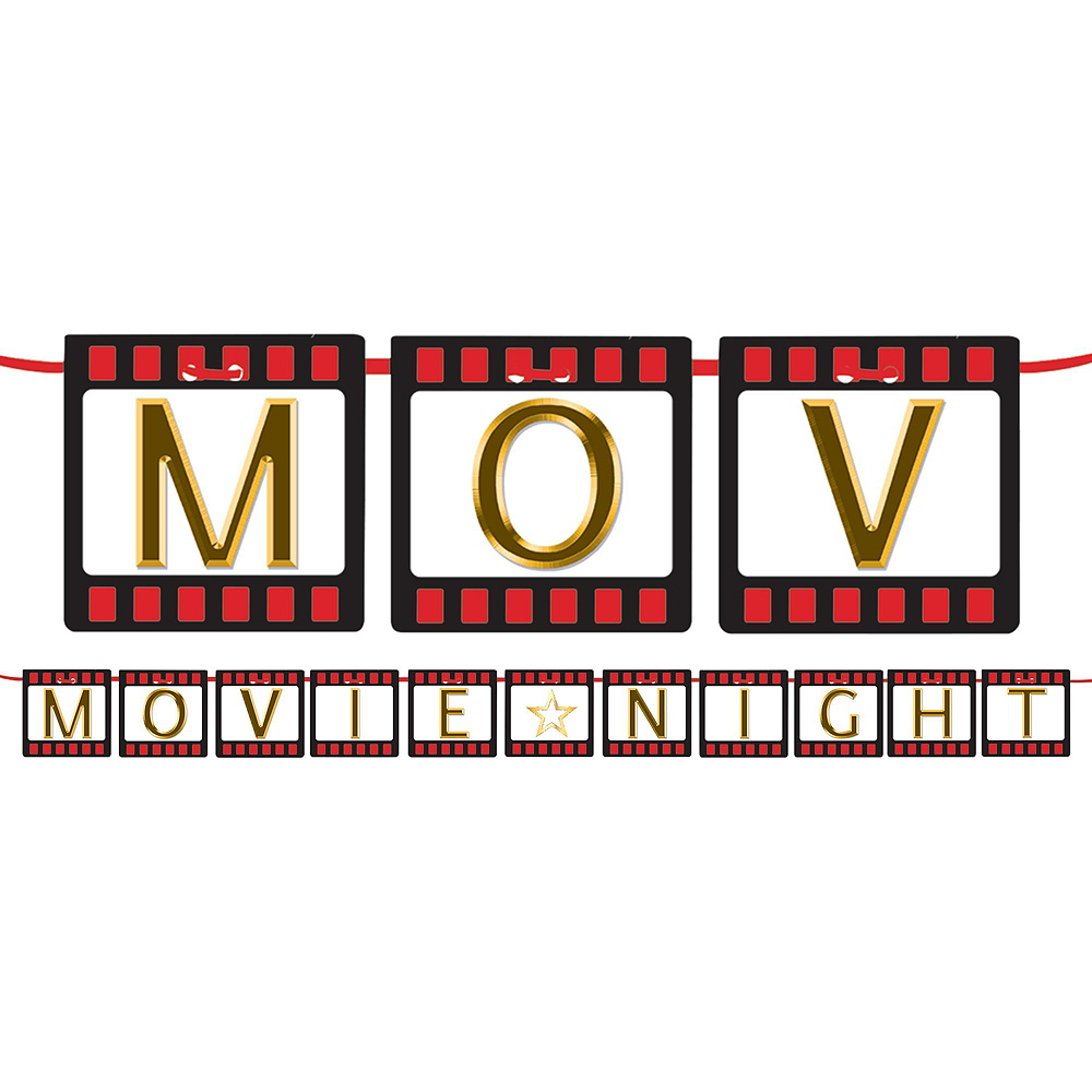Hollywood Movie Night Deluxe Decorating Kit Image #2