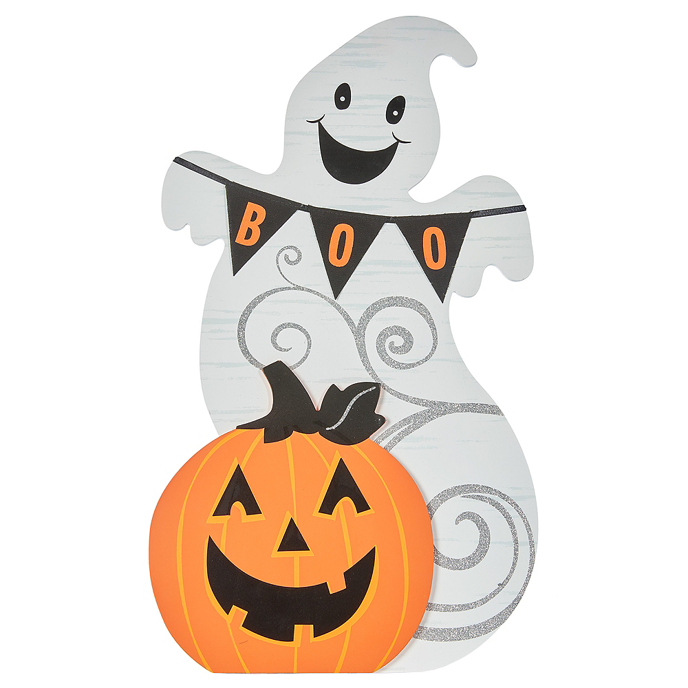 Ghost & Jack-o-Lantern Table Sign Image #1