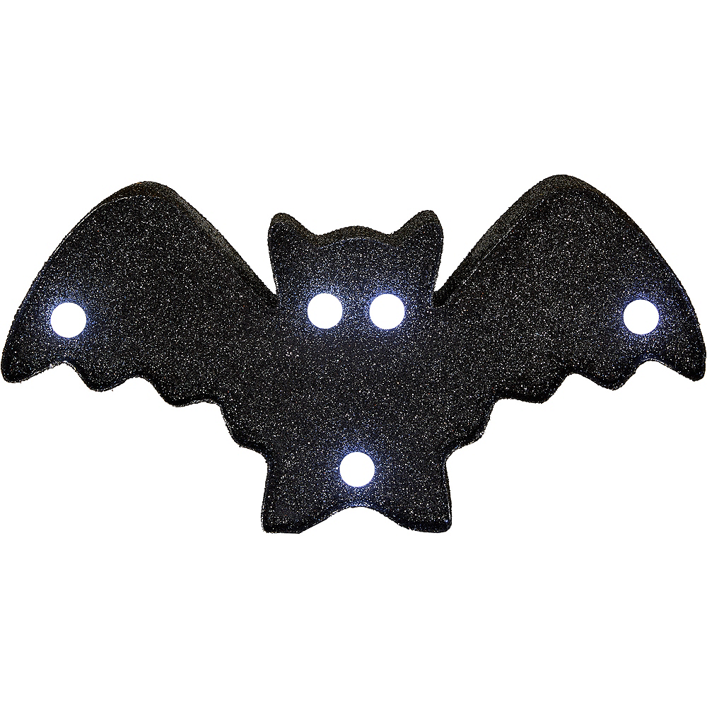 Glitter Light-Up Bat Marquee Sign Image #2
