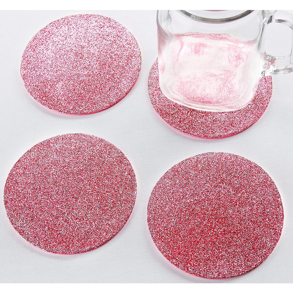 Glitter Pink Coasters Image #1