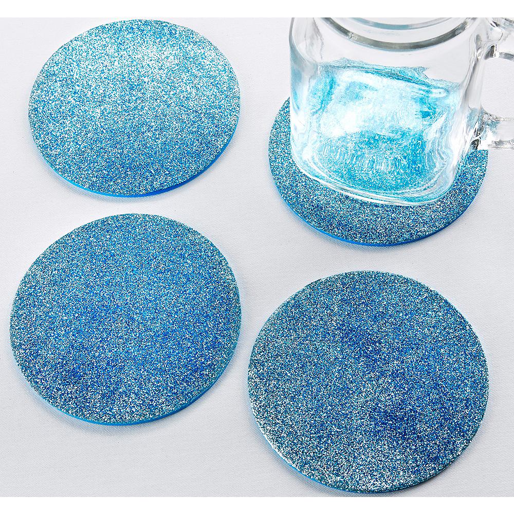 Glitter Blue Coasters Image #1